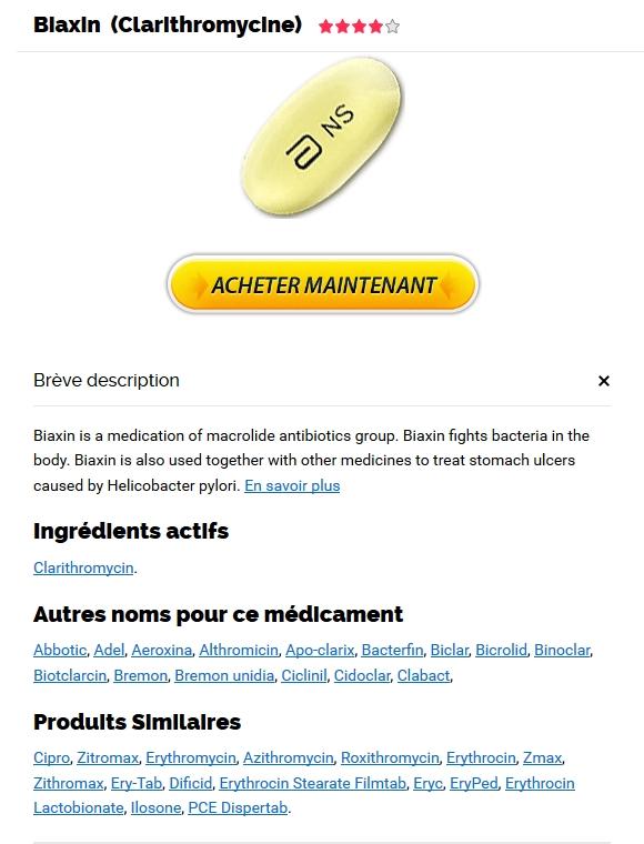 Acheter Biaxin Quebec. Toutes les cartes de crédit acceptées