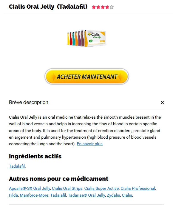 Discount Online Pharmacy - Commander Cialis Oral Jelly en France - Livraison internationale