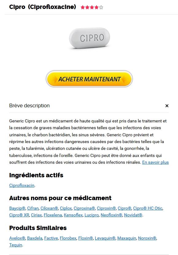 Ciprofloxacin France Pharmacie