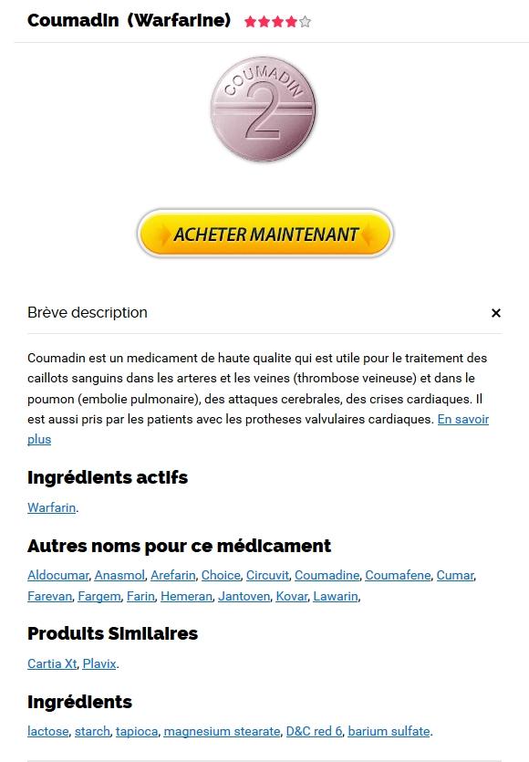 Warfarin marque pas cher - Medicament Coumadin En Ligne Pas Cher