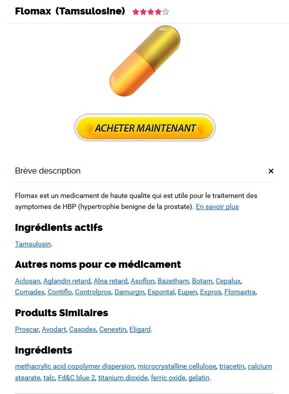 Meilleure offre sur les médicaments génériques * Achat De Tamsulosin * livraison garantie