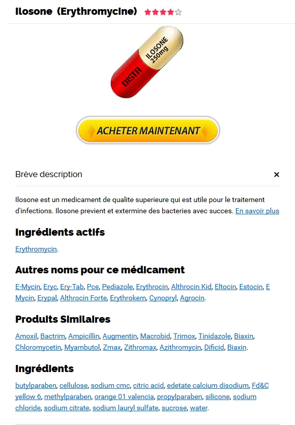 commande Erythromycin pas cher. Achat Ilosone Médicament En Ligne France