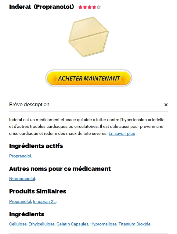 Buy Inderal 40 mg France - site serieux Propranolol