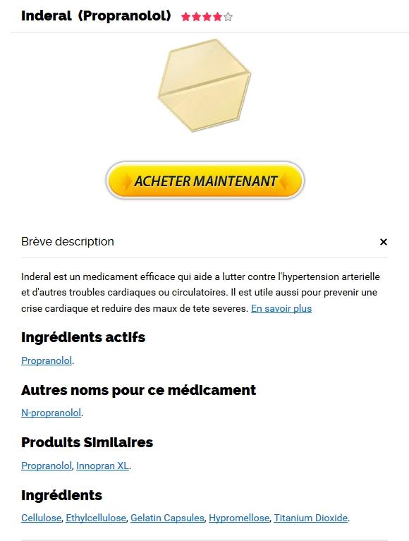 Acheter Inderal 40 mg En Ligne Canada - Pharmacie Charenton-le-pont
