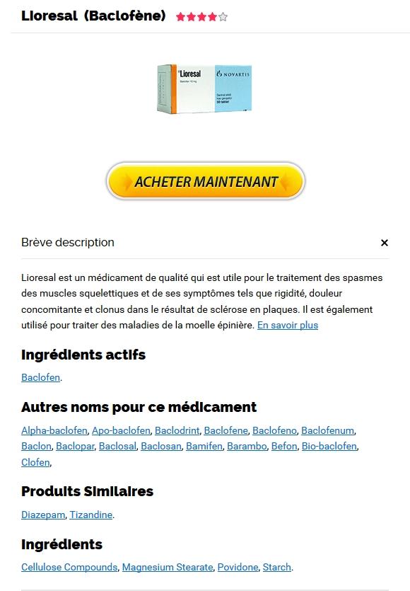 Achat Vrai Lioresal  - Pharmacie Cherbourg-octeville