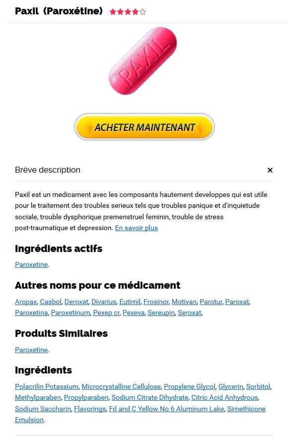 Paxil 30 mg En Belgique - Pharmacie Neuilly-sur-seine