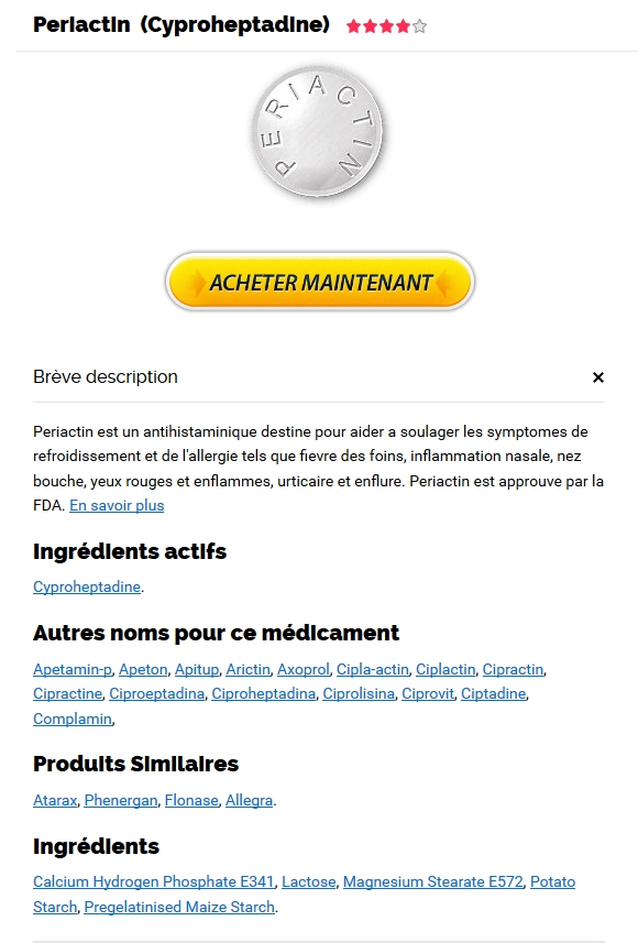 Comparateur Prix Periactin | Pharmacie Limoges