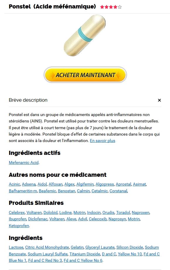 Ponstel Generique En Pharmacie Prix - Livraison gratuite dans le monde - Remise sur Réorganise