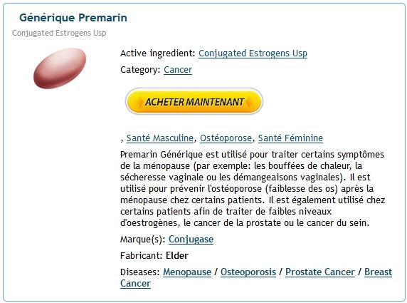 Commander Du Premarin | Conjugated estrogens moins cher acheter