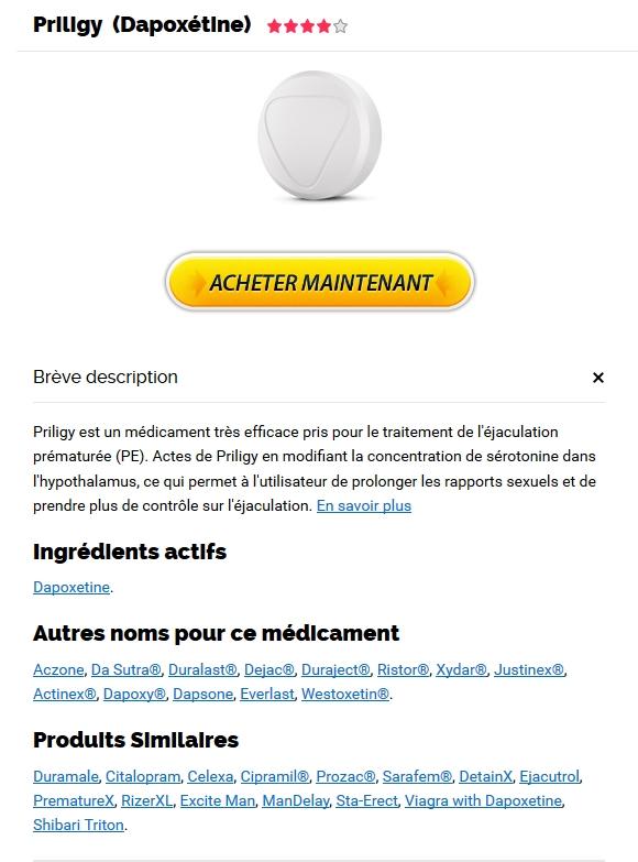 Priligy 30 mg Moins Cher En Pharmacie - achat de Dapoxetine
