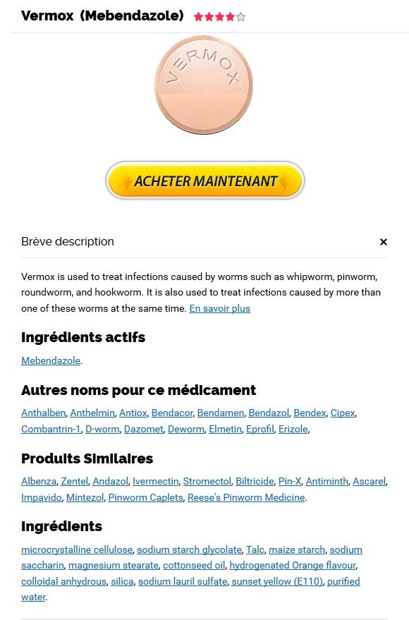 Acheter Vermox 100 mg En Ligne En France * Bonus Pill avec chaque commande