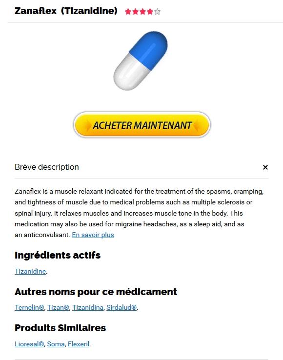 Achat Zanaflex Medicament France - Pharmacie Gradignan