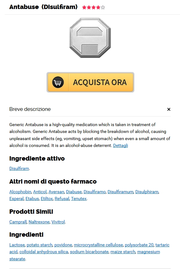 Antabuse reale online. Ordinare Il Antabuse 500 mg Generico