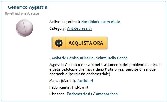 Prendi Aygestin Online. acquista il prezzo del Aygestin