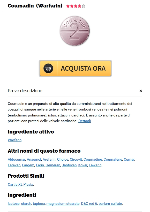 Dove Ordinare Le Pillole Di Warfarin Online