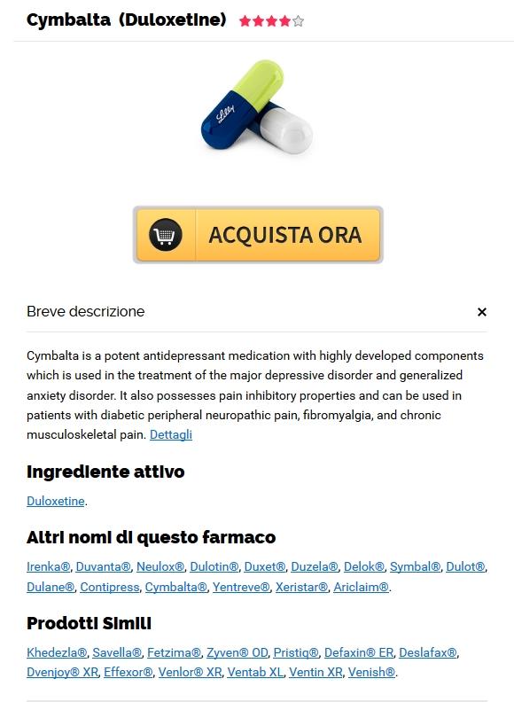 Acquista Duloxetine Genova. Farmacie Online Sicure 2017