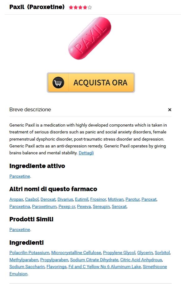 Paxil 30 mg A Buon Mercato Senza Prescrizione Medica - Spediamo con lo SME, Fedex, UPS e Altro