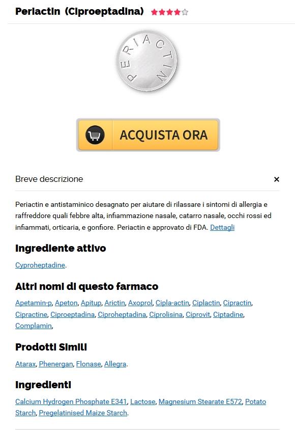 acquistare pillole di Cyproheptadine generico. Acquisto Online Di Pillole Di Periactin